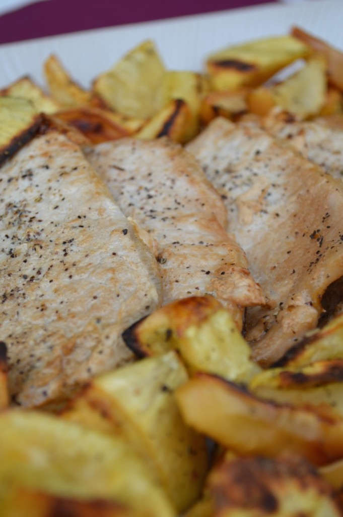My Life Well Loved: Pork Chops with Roasted Apples & Sweet Potatoes