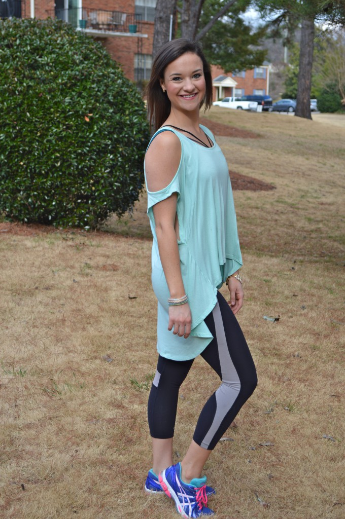 Mint workout top on my life well loved