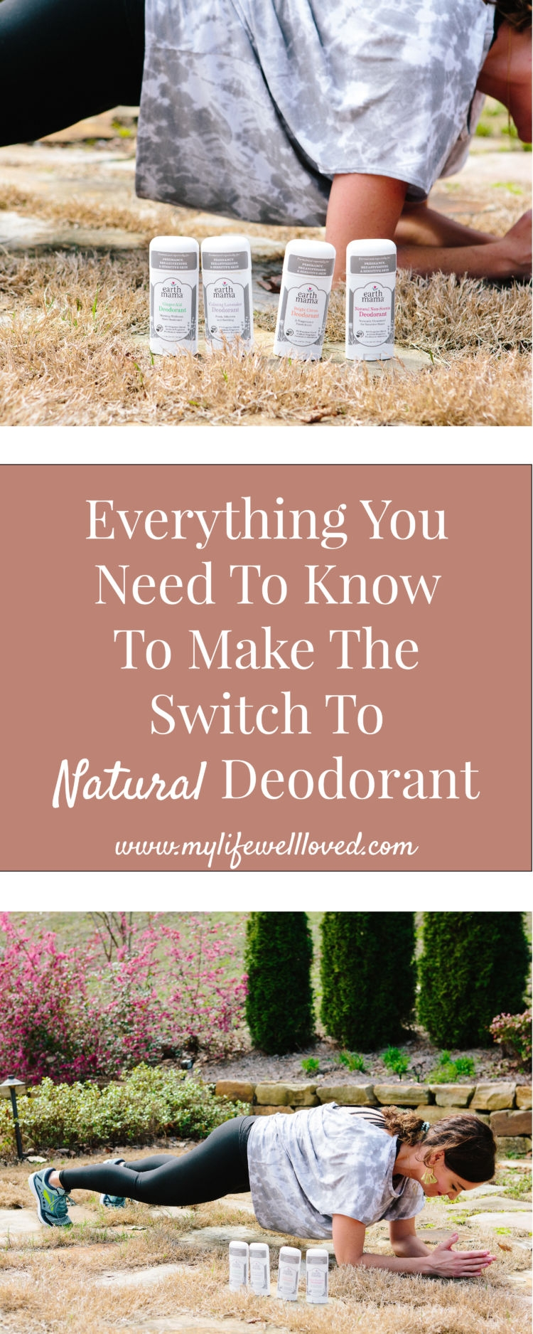 Everything you need to know to make the switch to natural deodorant (including how to detox your arm pits) and the best natural deodorant I've found. Earth Mama Organic deodorant #NaturalDeodorant #athleisure #workout