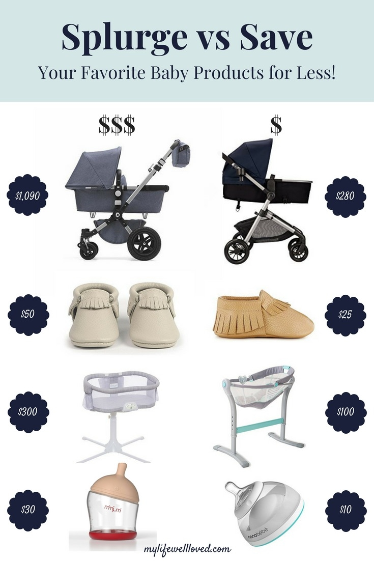 Favorite Baby Essentials Dupes for Less by AL Life + Style Blogger, Heather, at MyLifeWellLoved.com // #dupes #babyessentials #pregnancy #musthaves