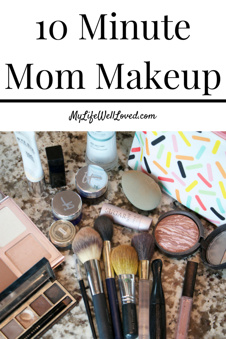 Easy 10 Minute Mom Makeup from Heather Brown of MyLifeWellLoved.com // 10 Minute Makeup Hacks // 15 Minute Mom Makeup // It Cosmetics