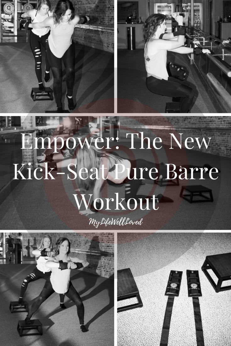 Pure Barre Workout: Empower Cardio Barre tips from heather of MyLifeWellLoved.com // pure barre teacher pushups on the platform