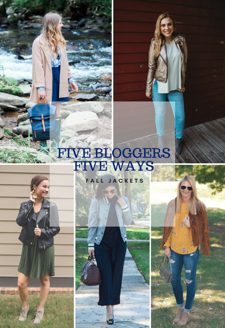 Fall Jackets styled 5 ways from alabama blogger mylifewellloved.com // fall style // leather jacket // jacket and booties