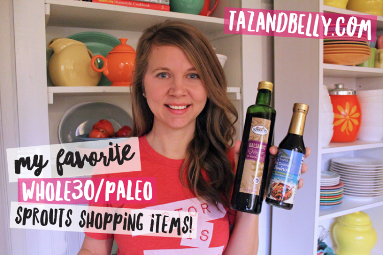 Whole 30 & Paleo Sprouts Shopping List on My Life Well Loved