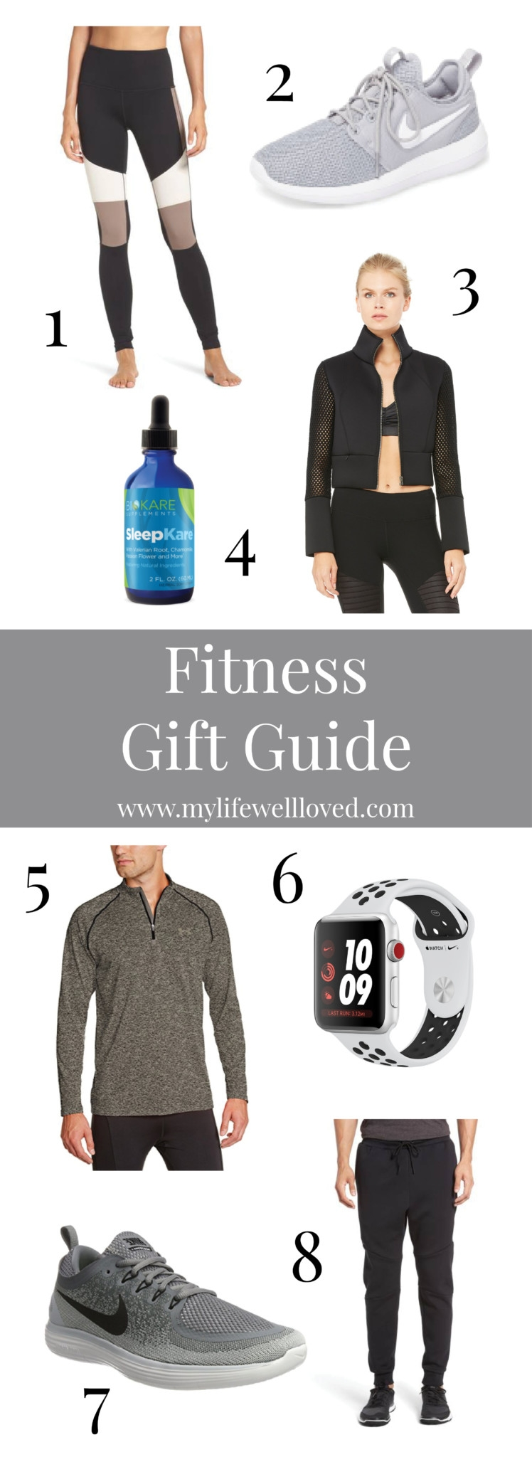 Fitness Gift Guide for Him and Her from Alabama blogger Heather of MyLifeWellLoved.com // Best health and fitness buys for gifts