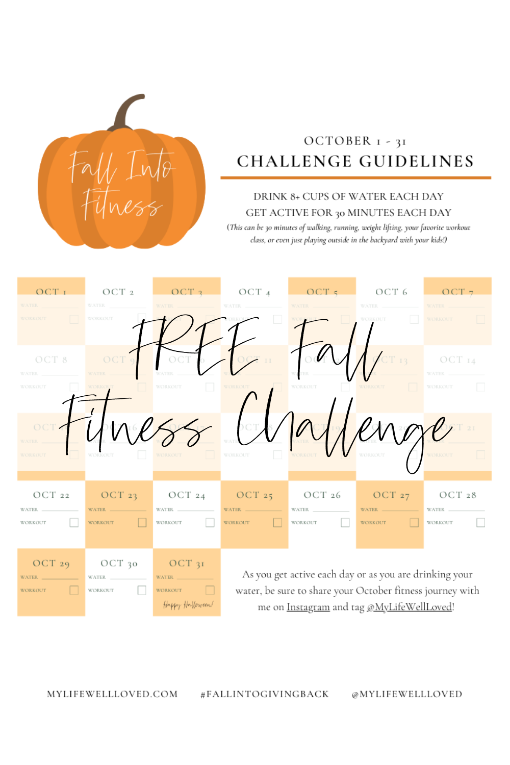 Fall Fitness Challenge by Alabama Life + Fitness blogger, Heather Brown // My Life Well Loved