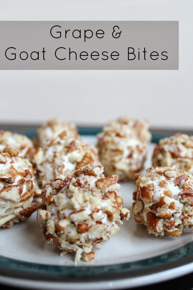 Healthy Appetizers: Grape and Goat Cheese Bites recipe from Heather of MyLifeWellLoved.com