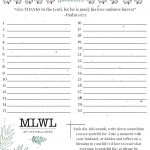 Thankful Daily Journal Printable