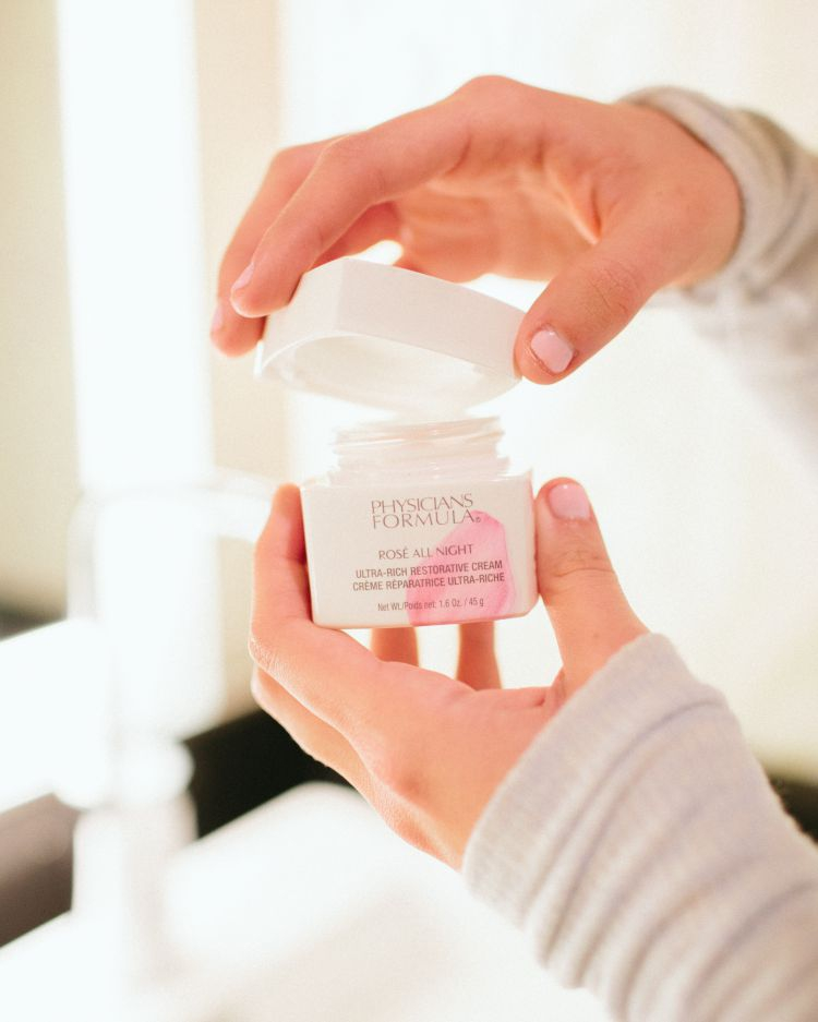 Sharing my favorite drugstore beauty and skincare products including Physician Formula's Rosé All Night Cream by Heather Brown at My Life Well Loved // #nightcream #drugstorebeauty #affordableskincare