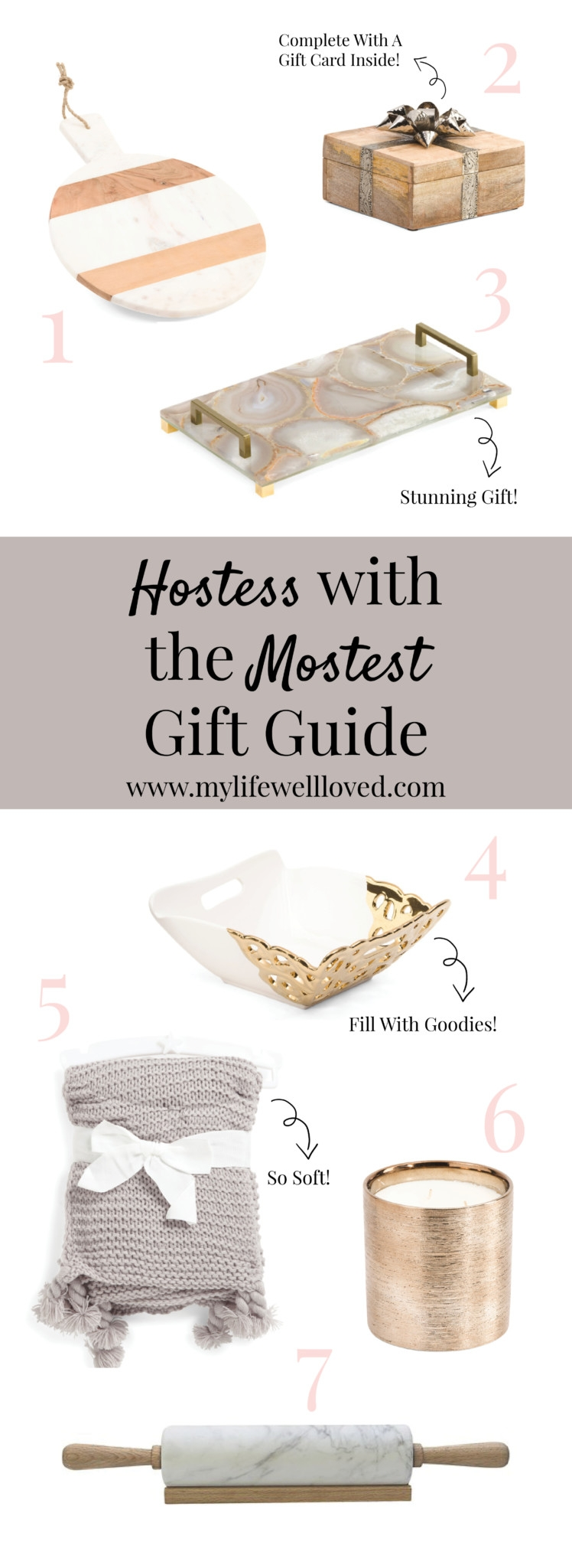 Hostess Gift Guide / Teacher gift guide from alabama blogger heather of mylifewellloved.com // what to give a teacher // gift for hostess // thanksgiving and christmas gift ideas
