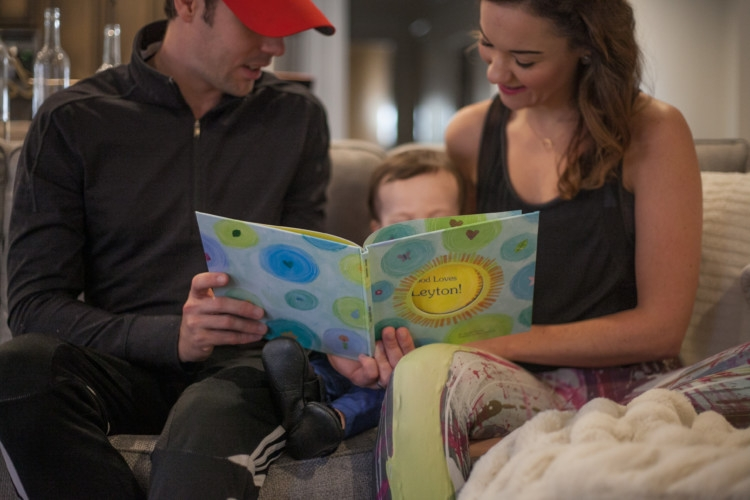 Family Reading Time -- My Healthy Daily Routine with my family -- Clarins Body Fit Anti-cellulite cream from Heather Brown of MyLifeWellLoved.com