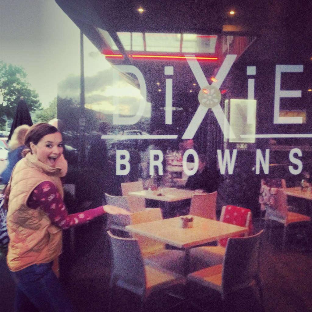 We thought this was hilarious since we're from Dixie (The South) and our last name is Brown. Too perfect & the food was hearty and delicious!