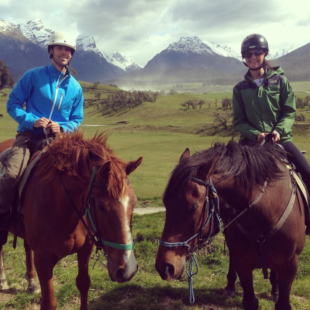 Horseback riding in New Zealand
