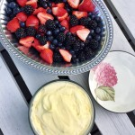 Easy Vanilla Almond Fruit Dip Recipe