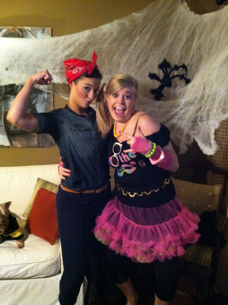 Heather and Jenni Halloween