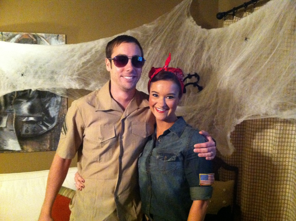 Cop from Reno 911 and Rosie the Riveter Costume Ideas - Easy Halloween Costume: Rosie the Riveter Costume by Alabama lifestyle blogger My Life Well Loved