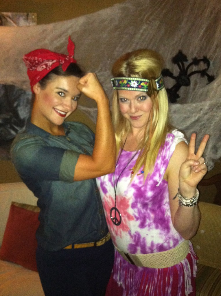 Affordable Halloween Costume Ideas: Rosie the Riveter and Hippie - Easy Halloween Costume: Rosie the Riveter Costume by Alabama lifestyle blogger My Life Well Loved