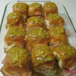 Hawaiian Ham & Swiss Sliders w/ Poppyseed Sauce
