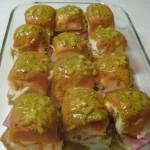 Hawaiian Ham & Swiss Sliders w/ Poppyseed Sauce