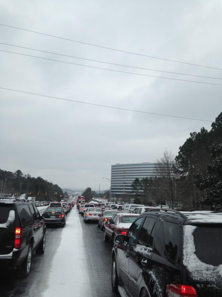Birmingham Snow Traffic 280