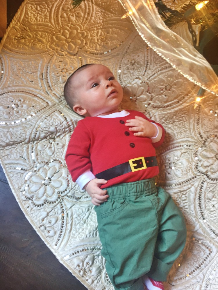 Pictures to take with your baby at Christmas from Heather Brown of My Life Well Loved || Photos to take of your toddler at Christmas - 10 Baby Christmas Pictures to Take featured by popular Birmingham lifestyle blog, My Life Well Loved