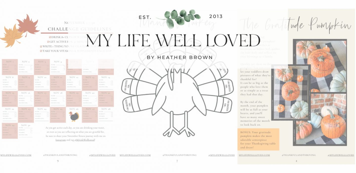 30 Day Grateful Challenge: FREE Daily Gratitude Journal by Alabama Life + Style blogger, Heather Brown // My Life Well Loved
