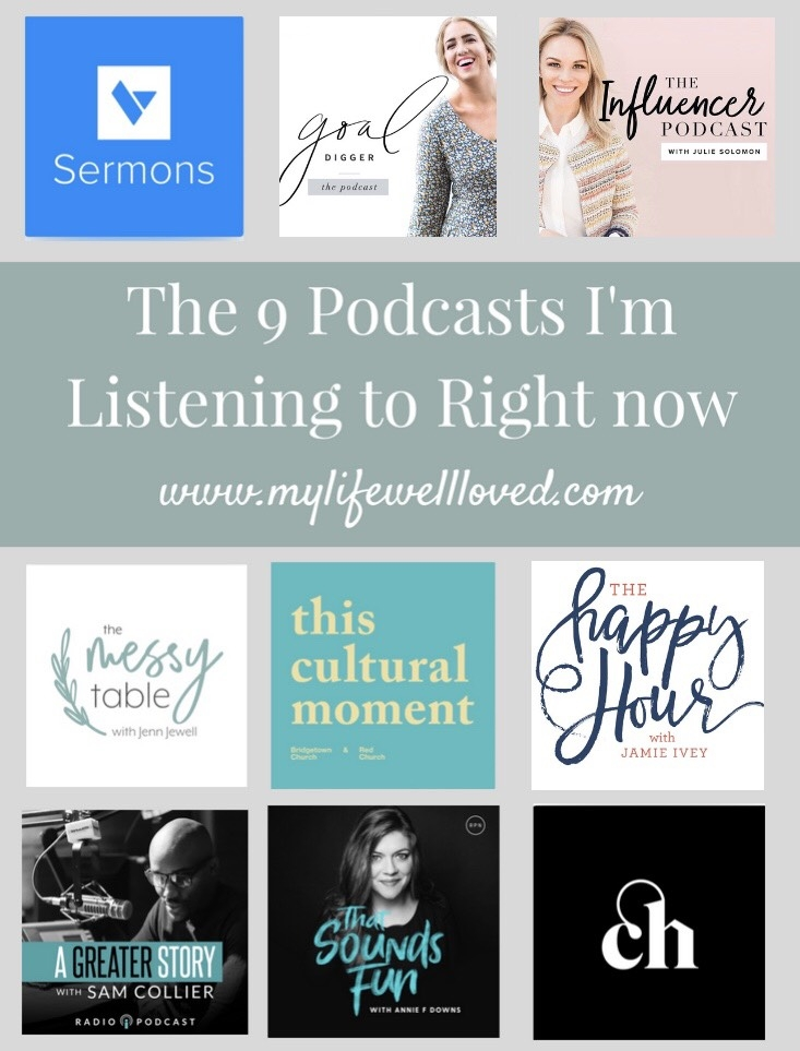 Sharing the best podcasts of all time by mom and business owner, Heather at MyLifeWellLoved // #momlife #workmom #podcasts #bestpodcasts