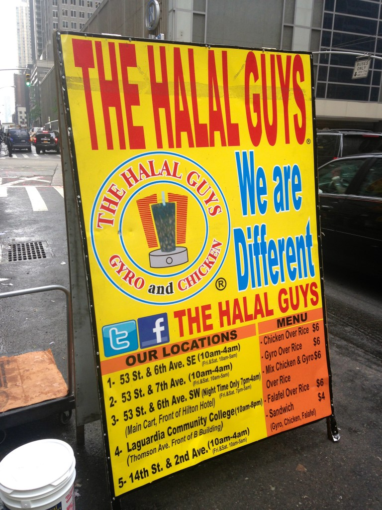 The Halal Guys NYC food