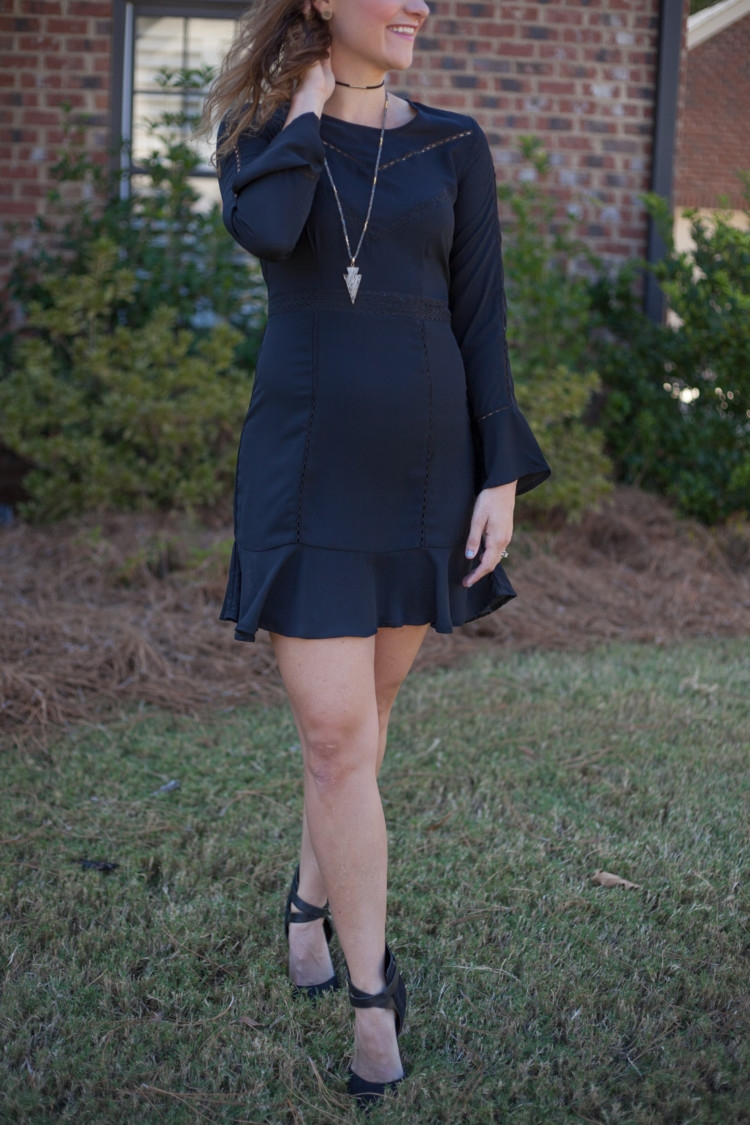 Winter Little Black Dress || Winter Dress || Party Dress || Work Party Dress || Church Dress from fashion blogger Heather Brown of MyLifeWellLoved.com