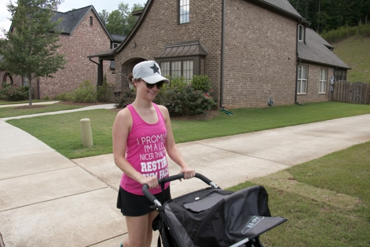 Fitness Q&A with Heather Brown of MyLifeWellLoved.com // Jogging Stroller // Bob stroller and running