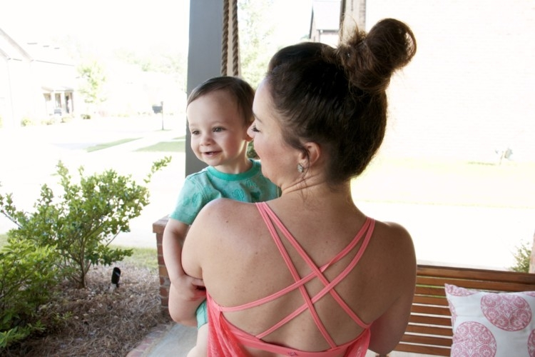 how to entertain a toddler - tips and tricks from Heather Brown of MyLifeWellLoved.com // Mom athleisure wear // Mom and baby boy style