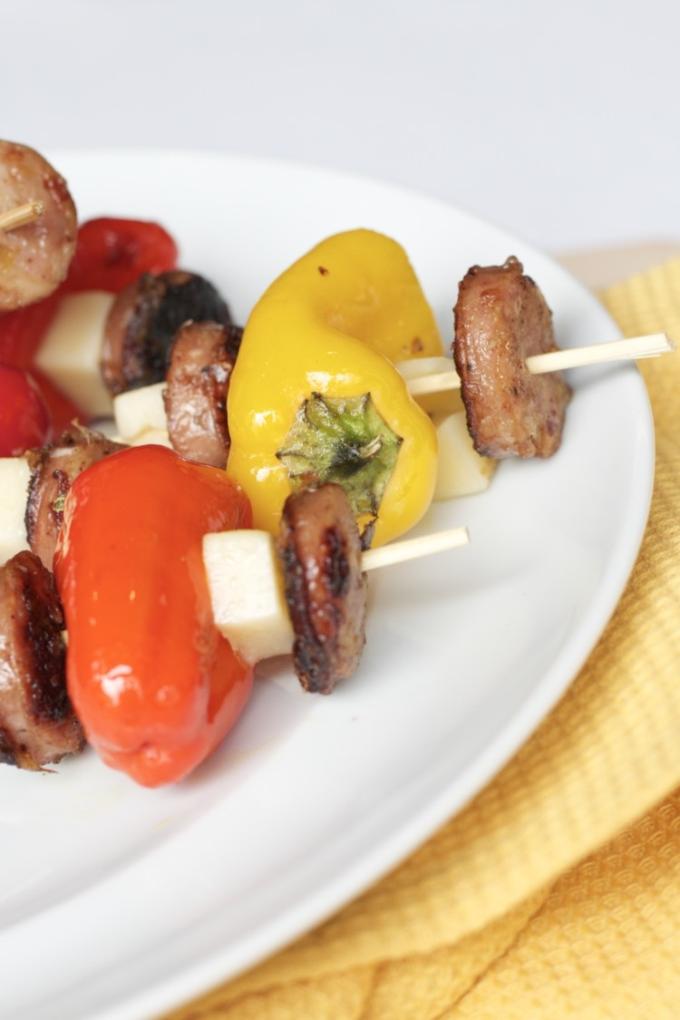 Healthy and Oh-So-Delicious Chicken Kabobs Recipe by healthy living blogger Heather of My Life Well Loved