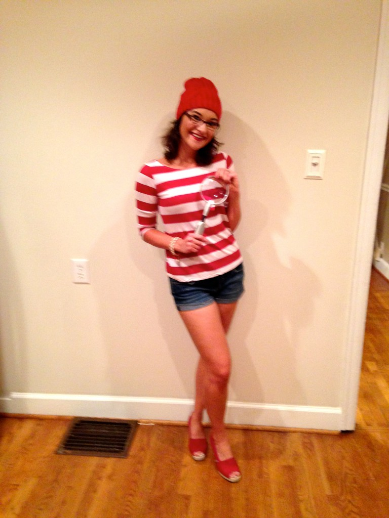 Where's Waldo Costume DIY - DIY Where's Wenda Costume by Alabama lifestyle blogger My Life Well Loved