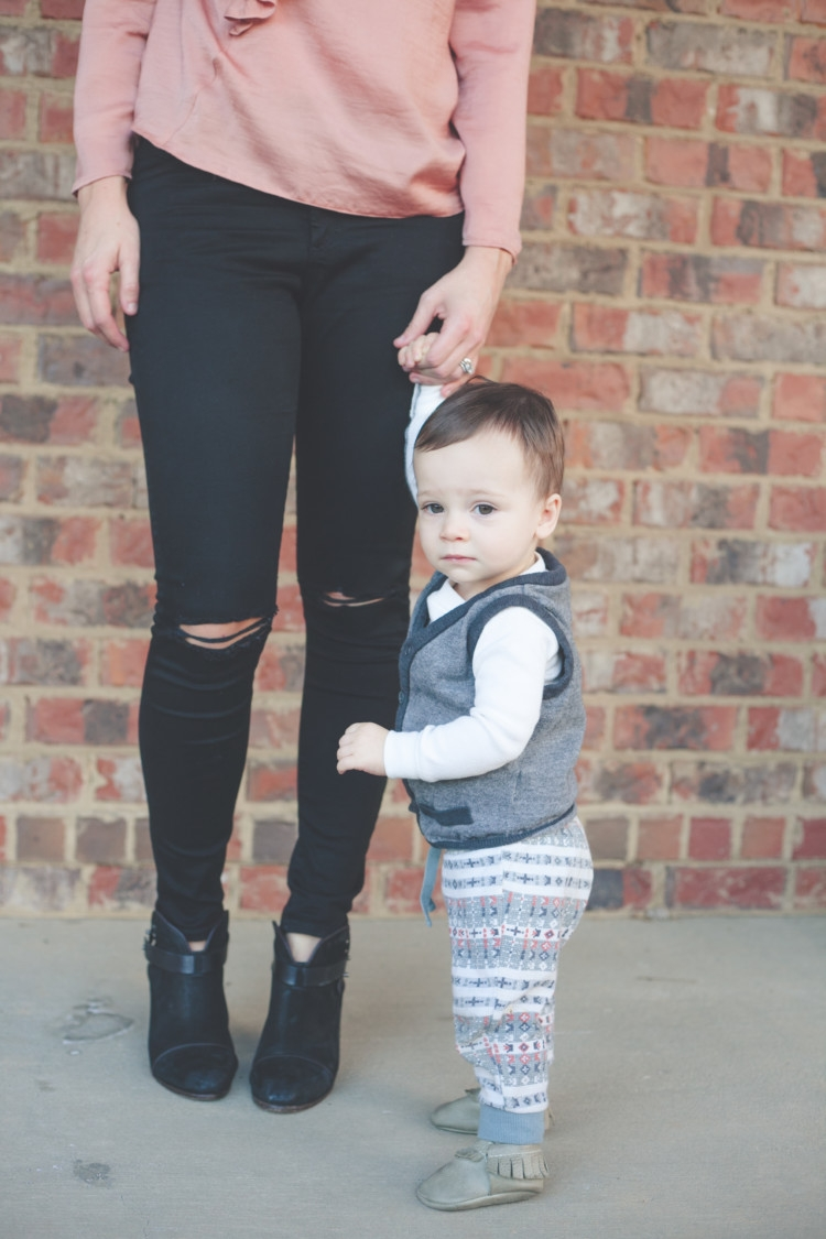 Mom and Baby pink style // Valentine's Day Mom & Baby Outfit // Valentine's Day Mom Outfit from Heather of MyLifeWellLoved.com Baby Boy and Mom Fashion