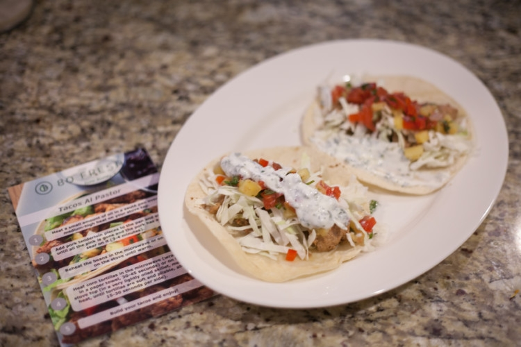 80Fresh Paleo Meals from Heather of MyLifeWellLoved.com // 80Fresh Meal Review // Tacos Al Pastor Recipe