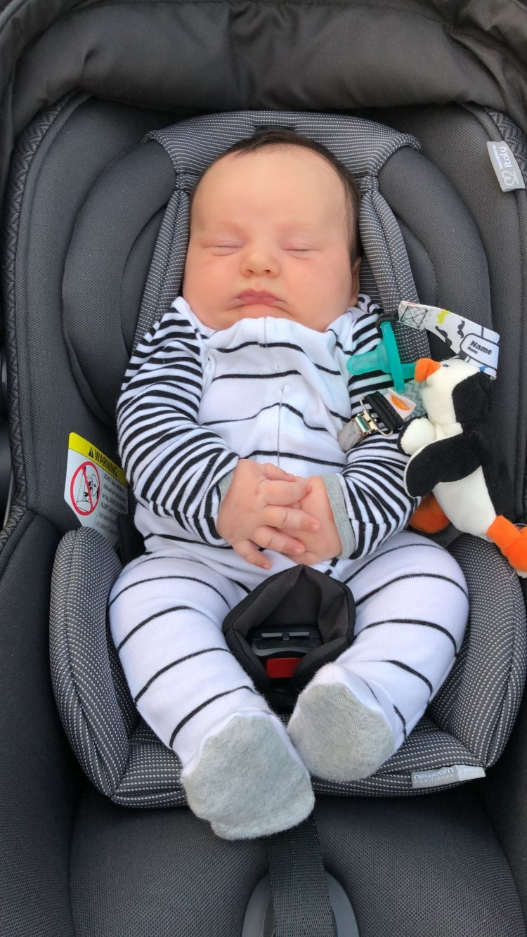 Sharing Finn's Second Baby Milestones by Month by Heather at MyLifeWellLoved.com // #twomonthsold #babymilestones