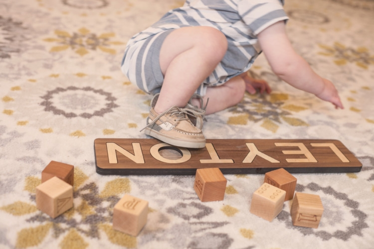 Wooden Blocks and wooden puzzle from Smiling Tree Toys are so wonderful for your babies development. Games to play with a toddler from Heather Brown of MyLifeWellLoved.com