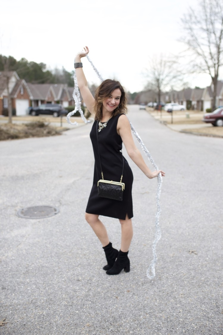 Christmas Eve Service Outfit Idea // Cute Winter Church Ideas from Alabama Blogger, Heather of MyLifeWellLoved.com // Church Dress Ideas // Hobo Wallet // Hobo Clutch Purse