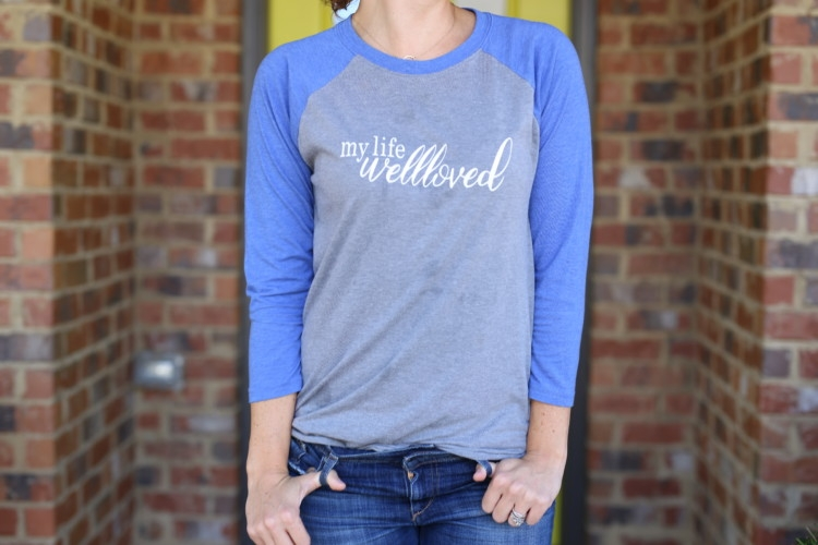 Baseball Tee styled by Alabama Blogger Heather of My Life Well Loved // baseball t-shirt mom style