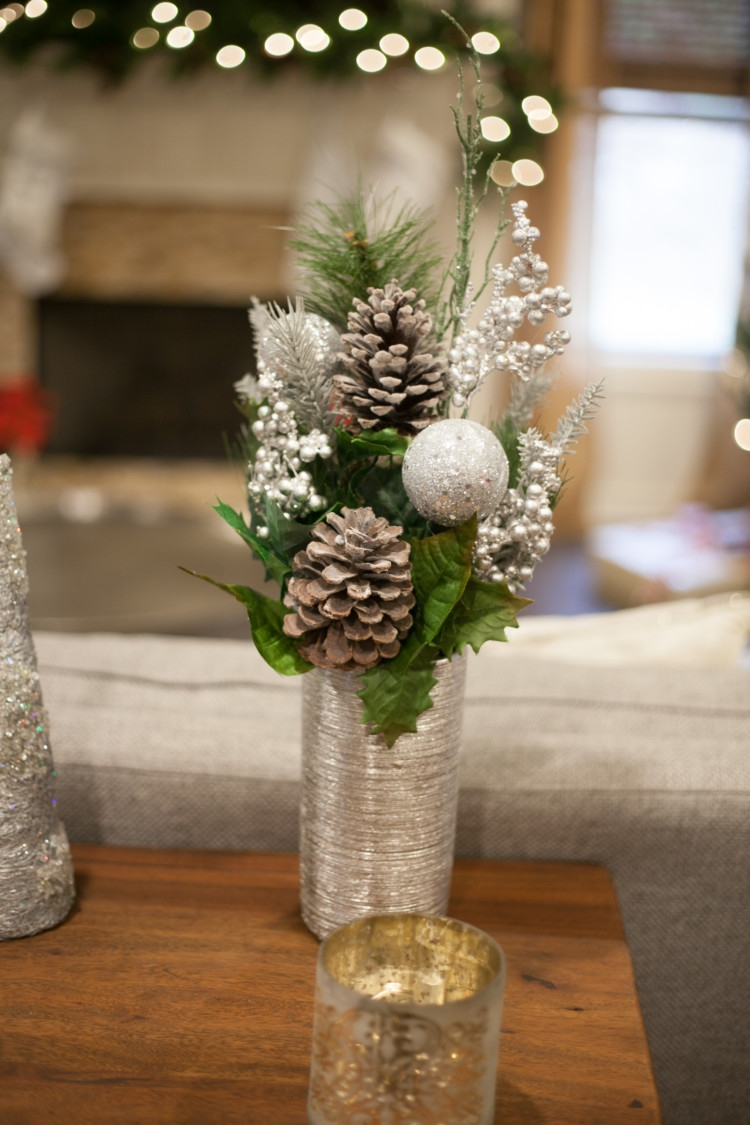Silver and White Christmas Decor || Kid-friendly Christmas decor || Simple tips on decorating with kid-friendly Christmas decor. Your home and Christmas tree can be beautiful and kid-friendly at the same time! Christmas safety tips with kids. Christmas safety. || decorating for Christmas with kids || kid friendly Christmas tree || how to kid proof your Christmas tree || Heather Brown from My Life Well Loved