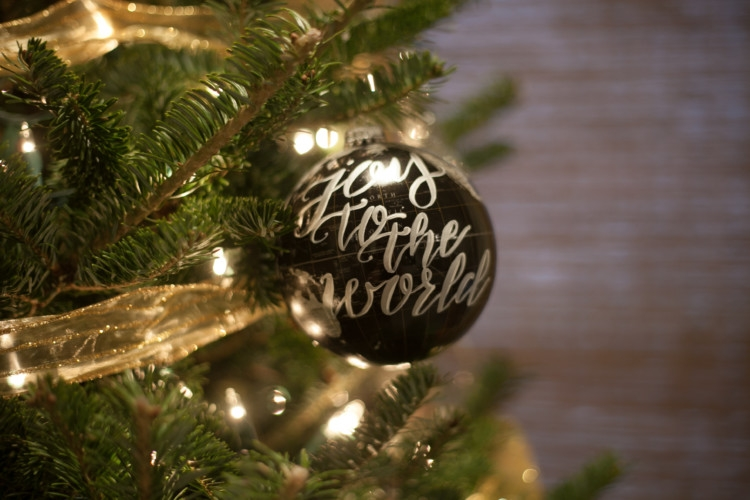 Globe Christmas Ornament | Ultimate Guide to Silver and White Christmas Decor from Heather Brown of My Life Well Loved
