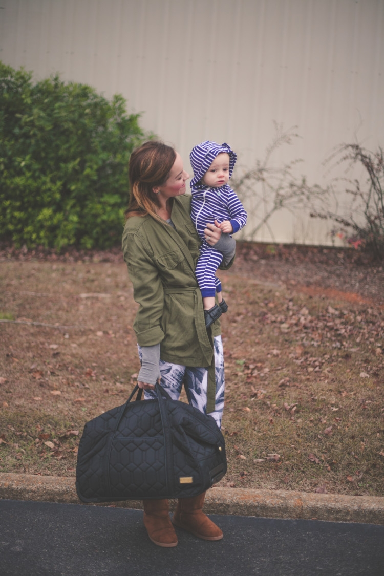 Baby Travel Tips: The motherload of traveling tips for a toddler or baby// travel tips with toddler // from Heather Brown of MyLifeWellLoved.com // Cinda B Bags
