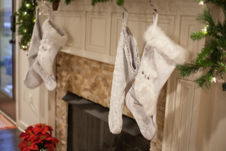 Silver and White Christmas Decor from Heather Brown of My Life Well Loved