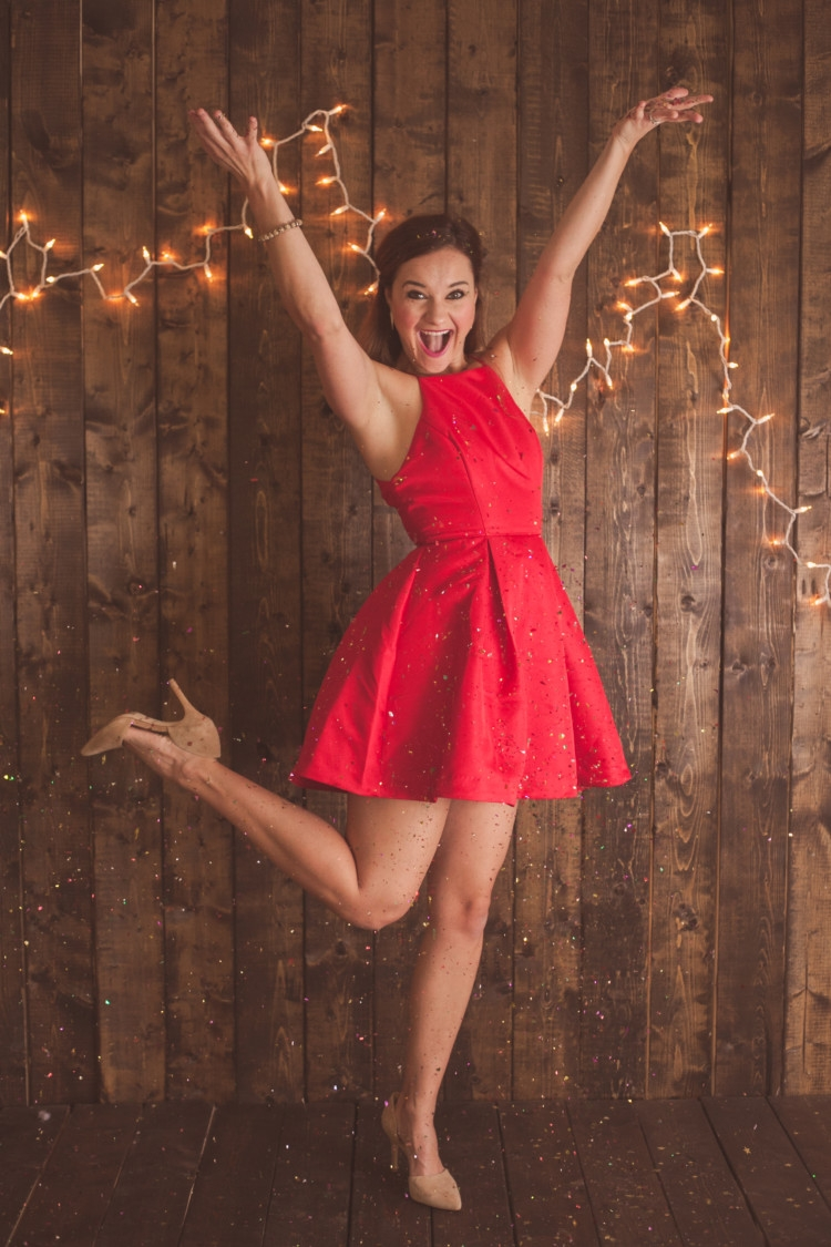 Red Party Dress || Christmas Dress || New Year's Eve Dress from MyLifeWellLoved.com