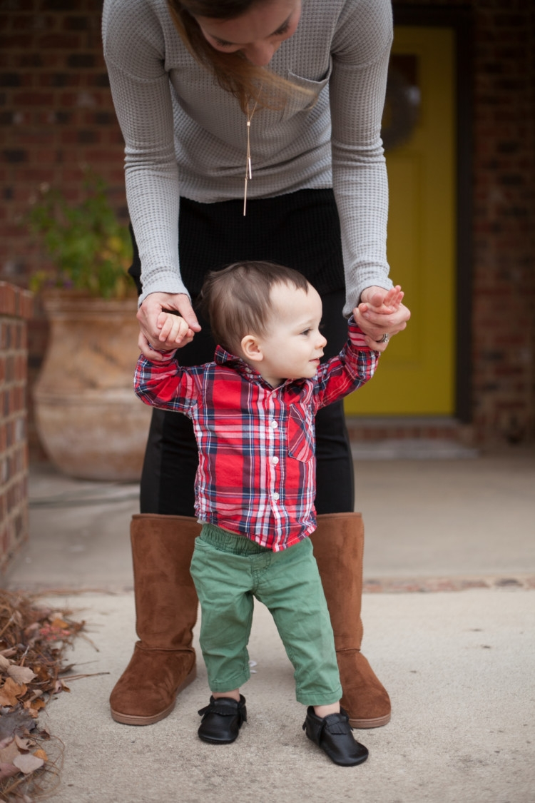 Boots and Leggings Boy Mom Style || Littles Style: Mom and Toddler Boy style from Heather Brown of MyLifeWellLoved.com