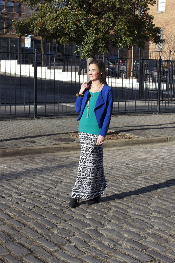 Maxi Skirt in Maxi with Cobalt Blue (Fashion Post)