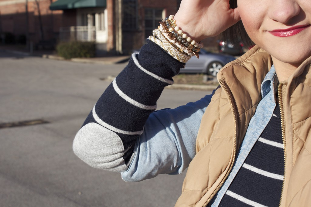 Winter Layers and Stacks of bracelets
