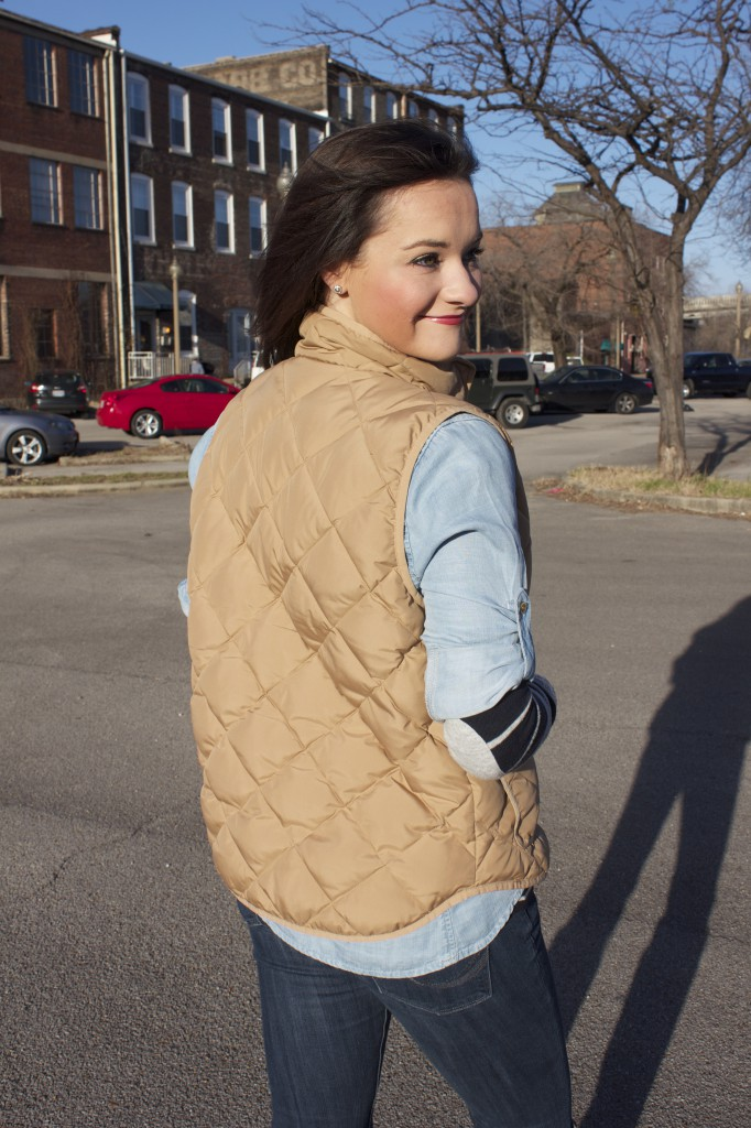 Winter Layers, elbow patches, and Vest