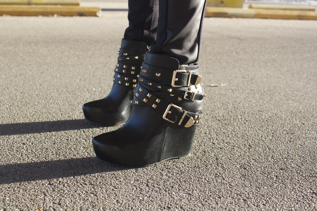 Black Edgy Shoes with Gold Detail from My Life Well Loved