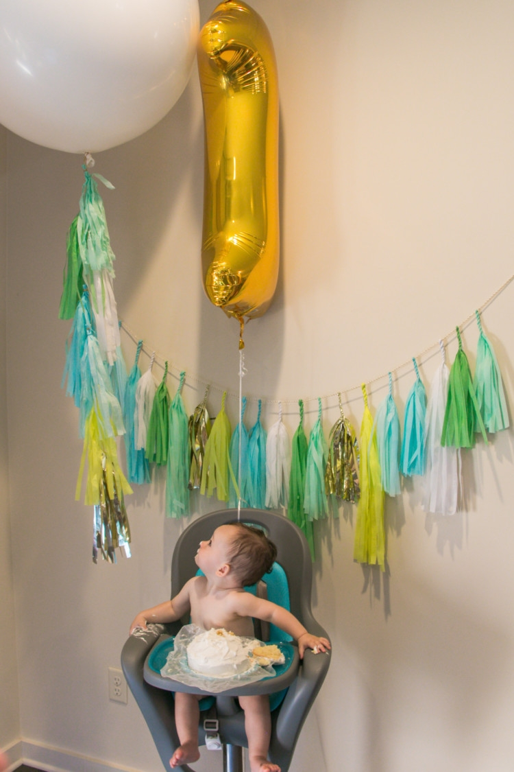 Balloon First Birthday Party Theme from Heather of My Life Well Loved